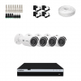 KIT 4 Câmeras Intelbras VHD 3230 B G4 + DVR Intelbras 8 Canais Full HD + Acessórios