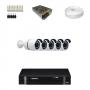KIT 5 Câmeras Alta Resolução AHD + DVR Intelbras 8 Canais HD + Acessórios