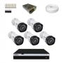 KIT 5 Câmeras Intelbras VHD 3230 B G4 + DVR Intelbras 8 Canais Full HD + Acessórios