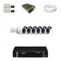 KIT 6 Câmeras Alta Resolução AHD + DVR Intelbras 8 Canais HD + Acessórios