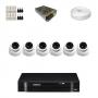 KIT 6 Câmeras Dome AHD + DVR Intelbras 8 Canais HD + Acessórios