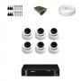 KIT 6 Câmeras Dome HD 720p + DVR Intelbras 8 Canais HD + Acessórios