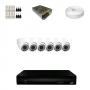 KIT 6 Câmeras Dome HD 720p + DVR 8 Canais 1080n + Acessórios
