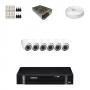 KIT 6 Câmeras Dome Infra 1200 Linhas + DVR Intelbras 8 Canais HD + Acessórios