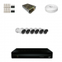 KIT 6 Câmeras HD 720p + DVR 8 Canais 1080n +  Acessórios