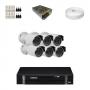 KIT 6 Câmeras Infra 1200 Linhas + DVR Intelbras 8 Canais HD + Acessórios