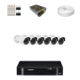 KIT 6 Câmeras HD 720p + DVR Intelbras 8 Canais HD + Acessórios