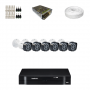 KIT 6 Câmeras Intelbras VHD 1010 B G4 + DVR Intelbras 8 Canais HD + Acessórios