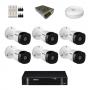KIT 6 Câmeras Intelbras VHD 1010 B G5 + DVR Intelbras 8 Canais HD + Acessórios