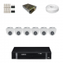 KIT 6 Câmeras Intelbras VHD 1010 D G4 + DVR Intelbras 8 Canais HD + Acessórios