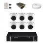 KIT 6 Câmeras Intelbras VHD 1010 D G5 + DVR Intelbras 8 Canais HD + Acessórios
