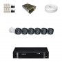 KIT 6 Câmeras Intelbras VHD 1120 B G4 + DVR Intelbras 8 Canais HD + Acessórios