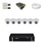 KIT 6 Câmeras Intelbras VHD 1120 D G4 + DVR Intelbras 8 Canais HD + Acessórios