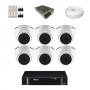 KIT 6 Câmeras Intelbras VHD 1120 D G5 + DVR Intelbras 8 Canais HD + Acessórios