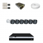 KIT 6 Câmeras Intelbras VHD 1220 B G4 + DVR Intelbras 8 Canais Full HD + Acessórios
