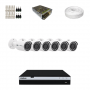 KIT 6 Câmeras Intelbras VHD 3230 B G4 + DVR Intelbras 8 Canais Full HD + Acessórios
