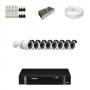 KIT 8 Câmeras Alta Resolução AHD + DVR Intelbras 8 Canais HD + Acessórios