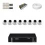 KIT 8 Câmeras Dome AHD + DVR Intelbras 8 Canais HD + Acessórios