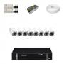 KIT 8 Câmeras Dome Infra 1200 Linhas + DVR Intelbras 8 Canais HD + Acessórios