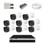 KIT 8 Câmeras Infra 1080p + DVR Intelbras 8 Canais Full HD + Acessórios