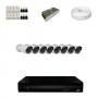 KIT 8 Câmeras HD 720p + DVR 8 Canais 1080n +  Acessórios