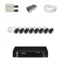 KIT 8 Câmeras Infra 1200 Linhas + DVR Intelbras 8 Canais HD + Acessórios