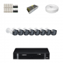 KIT 8 Câmeras Intelbras VHD 1010 B G4 + DVR Intelbras 8 Canais HD + Acessórios