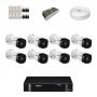 KIT 8 Câmeras Intelbras VHD 1010 B G5 + DVR Intelbras 8 Canais HD + Acessórios
