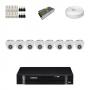 KIT 8 Câmeras Intelbras VHD 1010 D G4 + DVR Intelbras 8 Canais HD + Acessórios