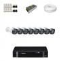 KIT 8 Câmeras Intelbras VHD 1120 B G4 + DVR Intelbras 8 Canais HD + Acessórios