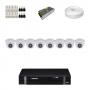 KIT 8 Câmeras Intelbras VHD 1120 D G4 + DVR Intelbras 8 Canais HD + Acessórios