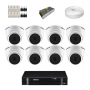 KIT 8 Câmeras Intelbras VHD 1120 D G5 + DVR Intelbras 8 Canais HD + Acessórios