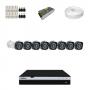 KIT 8 Câmeras Intelbras VHD 1220 B G4 + DVR Intelbras 8 Canais Full HD + Acessórios
