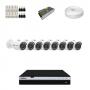 KIT 8 Câmeras Intelbras VHD 3230 B G4 + DVR Intelbras 8 Canais Full HD + Acessórios