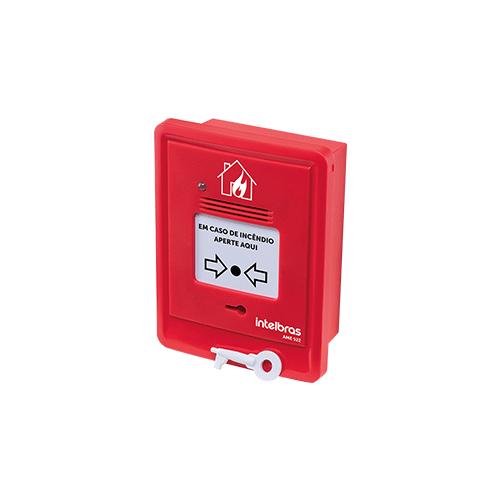 Acionador manual endereçável Intelbras AME 522 com sirene  - Ziko Shop