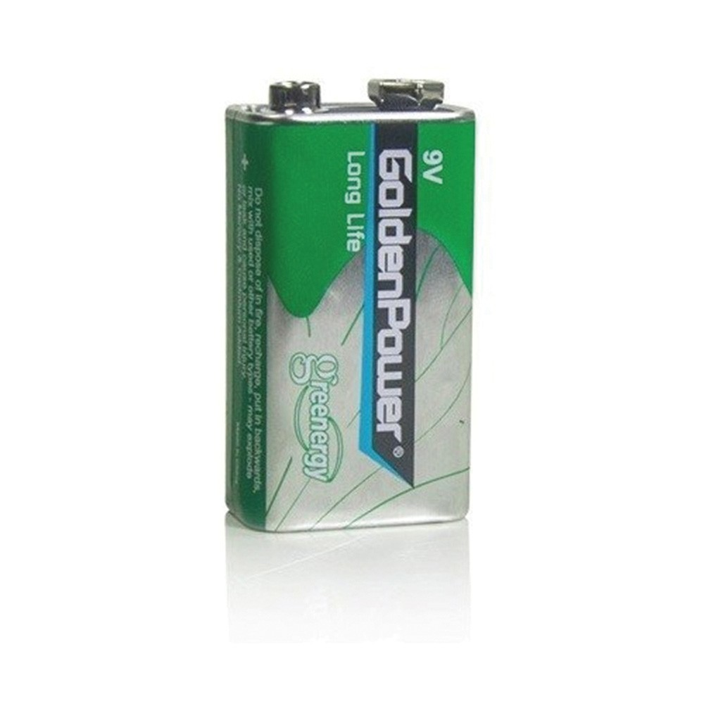 Bateria 9V 6F22 Long Life Golden Power  - Ziko Shop