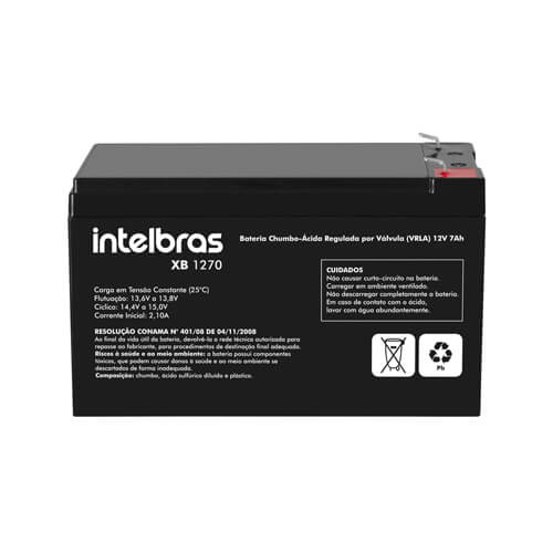 Bateria Intelbras de Chumbo-Ácido XB 1270 12 V  - Ziko Shop