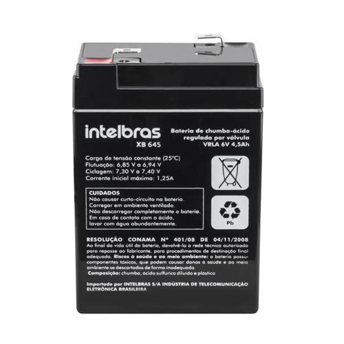 Bateria para Iluminação de Emergência 6V 4,5AH Intelbras XB 645  - Ziko Shop