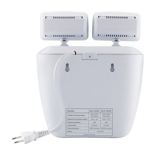 Bloco de iluminação de emergência 2000 lumens BLA 2000 Intelbras  - Ziko Shop