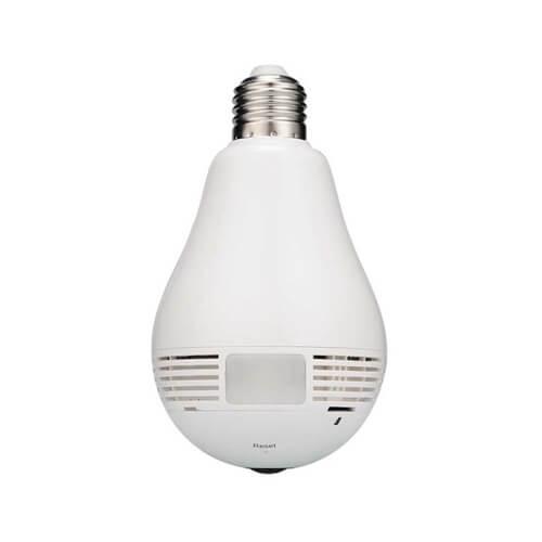 Câmera Lâmpada LED IP Wi-Fi Panorâmica 360º, HD 1.3MP Fisheye - FC-V380  - Ziko Shop