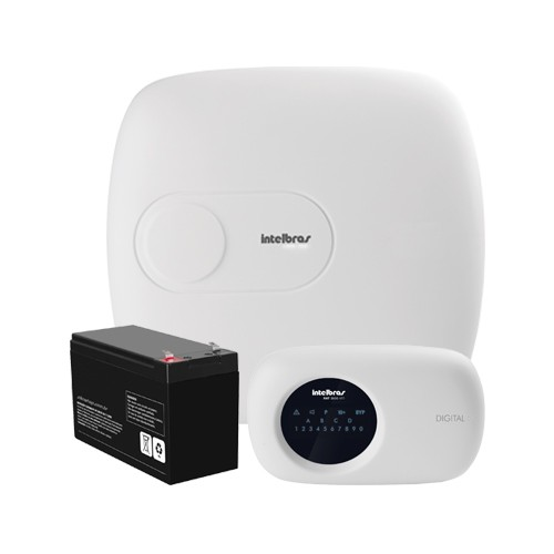 Central de Alarme Intelbras AMT 2018 E + Bateria (18 Zonas, Ethernet) - Ziko Shop