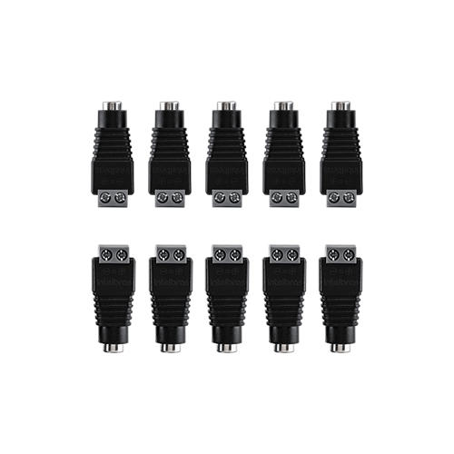 Conector P4 Fêmea Intelbras Conex 1000 para CFTV (10 unidades)  - Ziko Shop