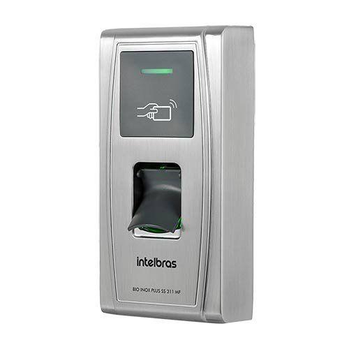 Controlador de acesso Intelbras - Bio Inox Plus SS 311 MF-  13,56 MHz  - Ziko Shop