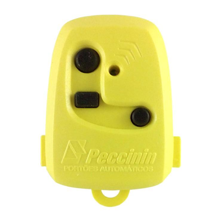 Controle Remoto Digital TX 3C Peccinin 433.92Mhz Amarelo   - Ziko Shop