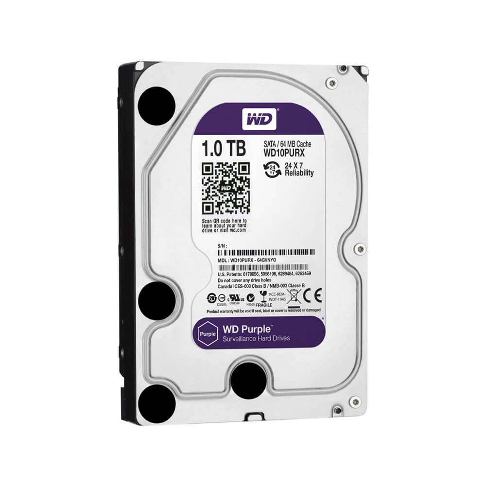Disco Rígido HD 1TB SATA 5400 RPM Western Digital Purple - Ziko Shop