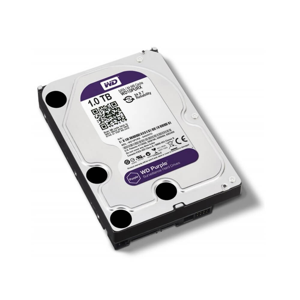 Disco Rígido HD 1TB SATA 7200 RPM Western Digital Purple  - Ziko Shop