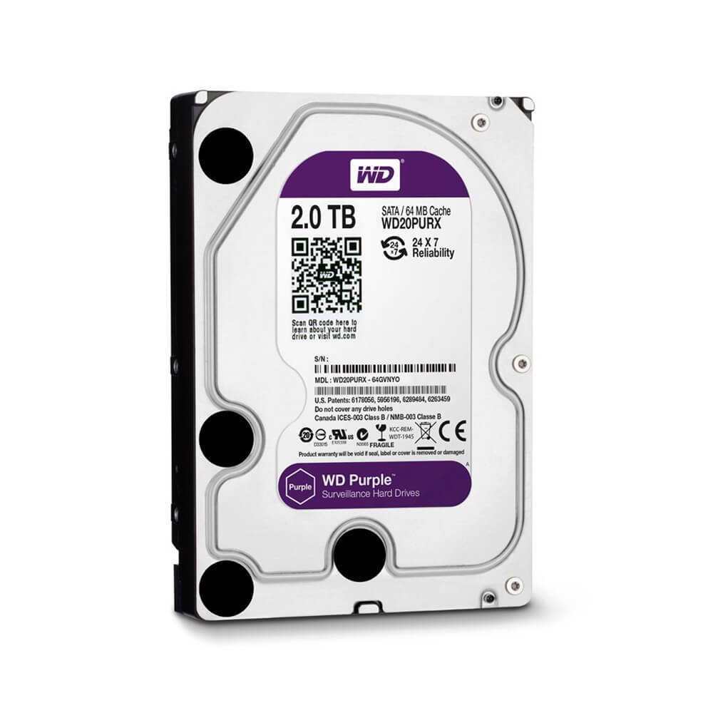 Disco Rígido HD 2TB SATA 7200 RPM Western Digital Purple  - Ziko Shop