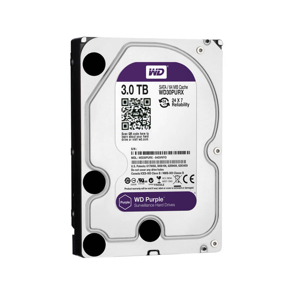Disco Rígido HD 3TB SATA 7200 RPM Western Digital Purple  - Ziko Shop