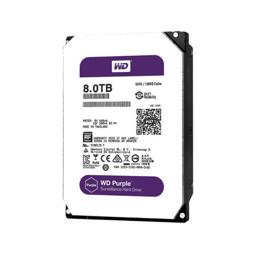 Disco Rígido HD 8TB SATA 7200 RPM Western Digital Purple  - Ziko Shop
