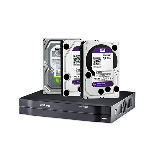 DVR Intelbras MHDX 1108 + Disco Rígido SATA Western Digital 5400 RPM  - Ziko Shop